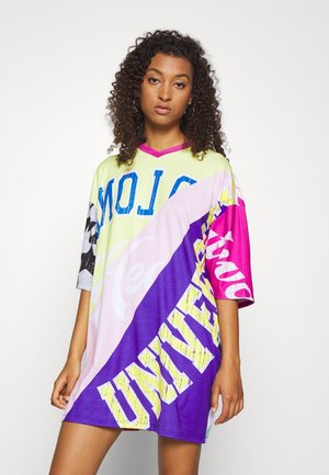 OVERSIZED DRESS SPLICED MASH UP - Jersey dress - multicoloured