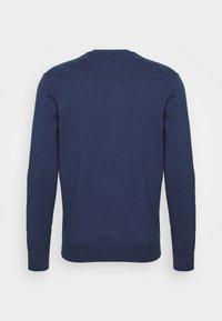 Polo Ralph Lauren - SLIM FIT COTTON SWEATER - Neule - derby blue heather - 6