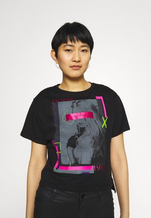 ANDINA  - Print T-shirt - jet black