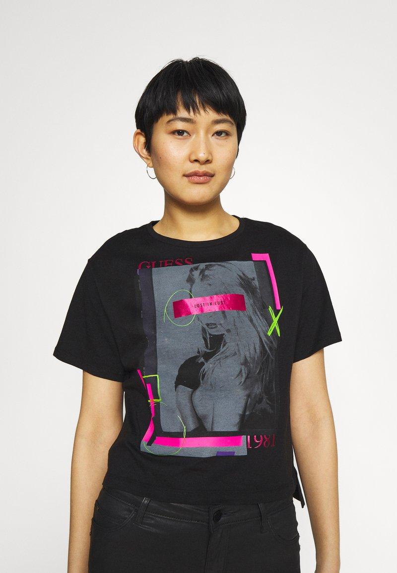 Guess - ANDINA  - Print T-shirt - jet black