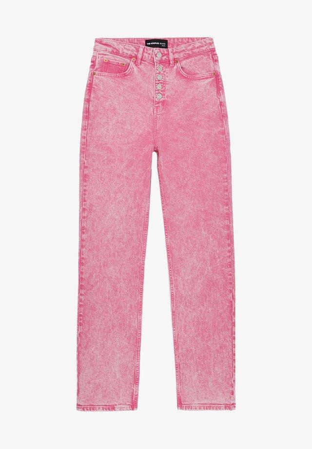 Jeansy Straight Leg - fresh pink