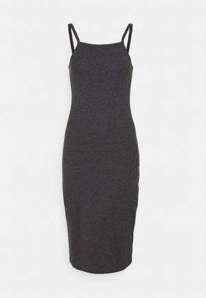 Žerzejové šaty - mottled dark grey