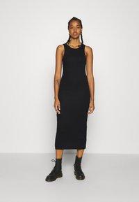 Weekday - STELLA DRESS - Jersey dress - black - 0
