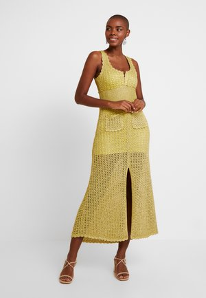 CONEY MIDI - Jumper dress - chartreuse