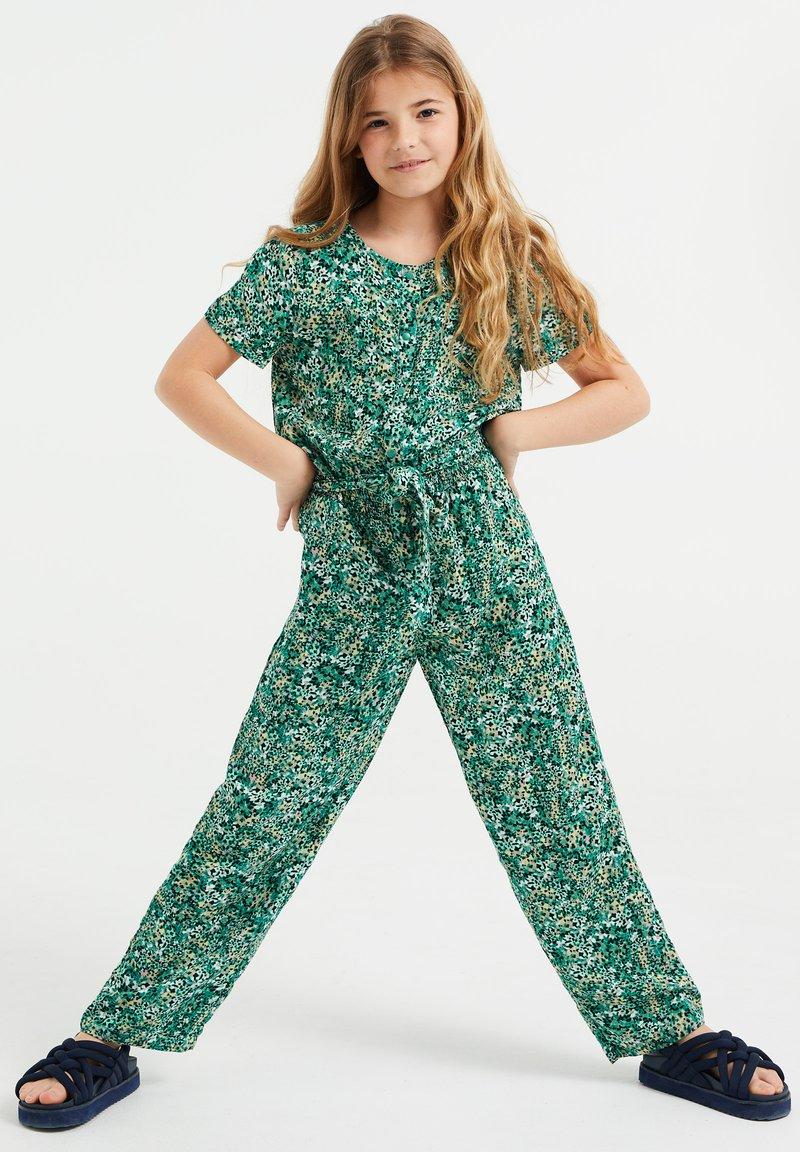 WE Fashion - MET DESSIN - Jumpsuit - dark green