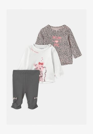 SET - Leggings - Trousers - light pink/dark grey