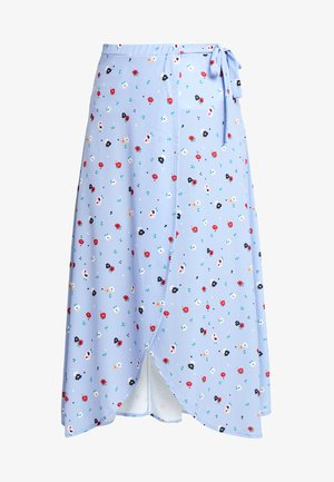 Wrap skirt - light blue