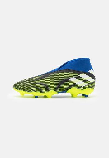 NEMEZIZ .3 LL FG UNISEX - Moulded stud football boots - core black/footwear white /solar yellow