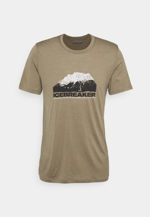 TECH LITE CREWE MOUNTAIN - T-shirt med print - flint