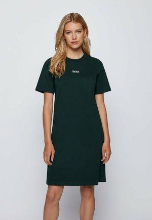 Jersey dress - open green
