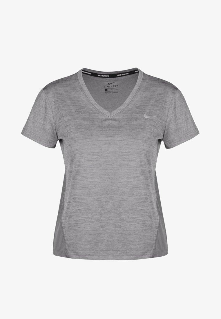 Nike Performance - MILER V NECK - Camiseta estampada - gray