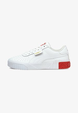 Trainers - white-poppy red