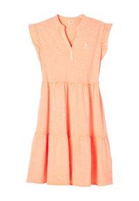 s.Oliver - Jersey dress - neon peach - 2