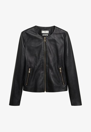 FELIPAR - Leather jacket - schwarz