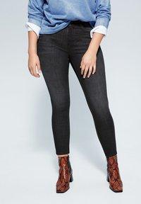 Violeta by Mango - IRENE - Jeans Skinny Fit - black denim - 0