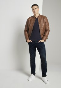 TOM TAILOR - Faux leather jacket - mid brown fake leather - 1