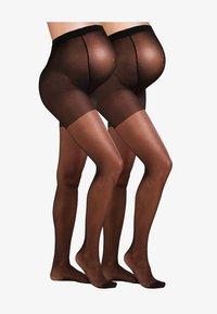 JoJo Maman Bébé - MATERNITY 2 PACK  - Panty - black - 1