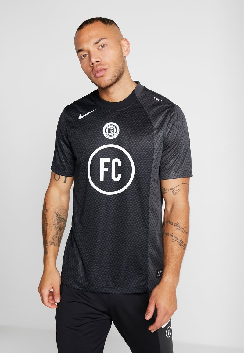 Nike Performance - FC AWAY - Print T-shirt - black/anthracite/white