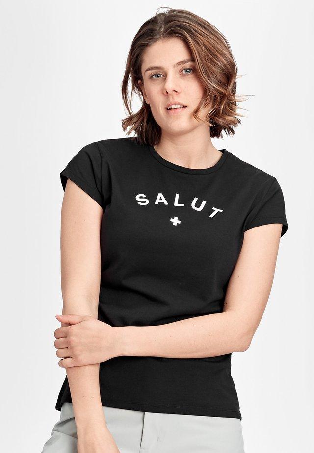 PEAKS - Print T-shirt - black prt salut