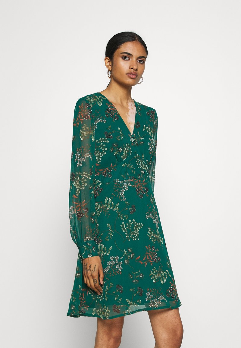 Vero Moda - VMJULIE SHORT DRESS - Kjole - atlantic deep