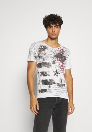 INDICATE ROUND - T-shirt con stampa - offwhite