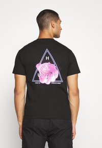 HUF - FORBIDDEN DOMAIN TEE - Print T-shirt - black - 2