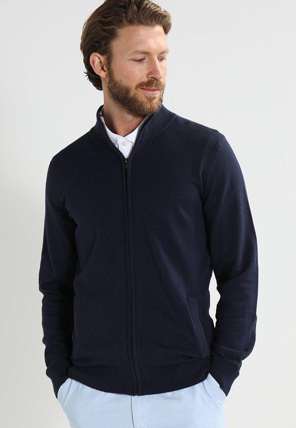 Pier One Kardigan - dark blue/granatowy Odzież Męska NDDT