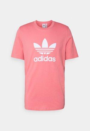 TREFOIL UNISEX - T-shirt z nadrukiem - hazy rose/white
