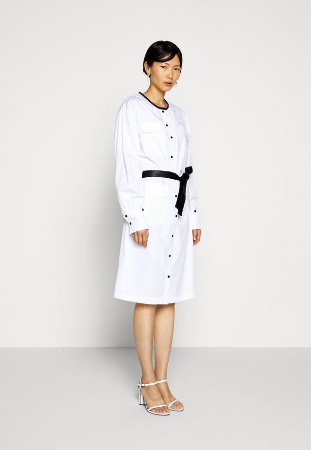 DRESS WITH POCKETS - Shirt dress - white