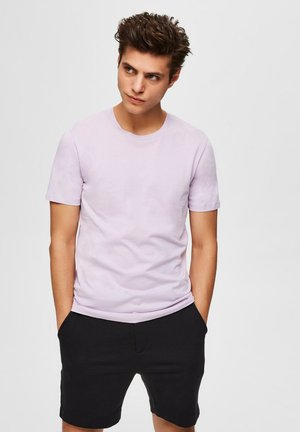 SLHTHEPERFECT ONECK TEE  - T-shirt basic - lavender frost