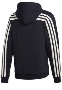 adidas Performance - WINTER 3-STRIPES FULL-ZIP HOODIE - Zip-up hoodie - black - 12