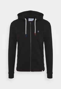 FRENCH ZIPPER HOODIE - Zip-up sweatshirt - black