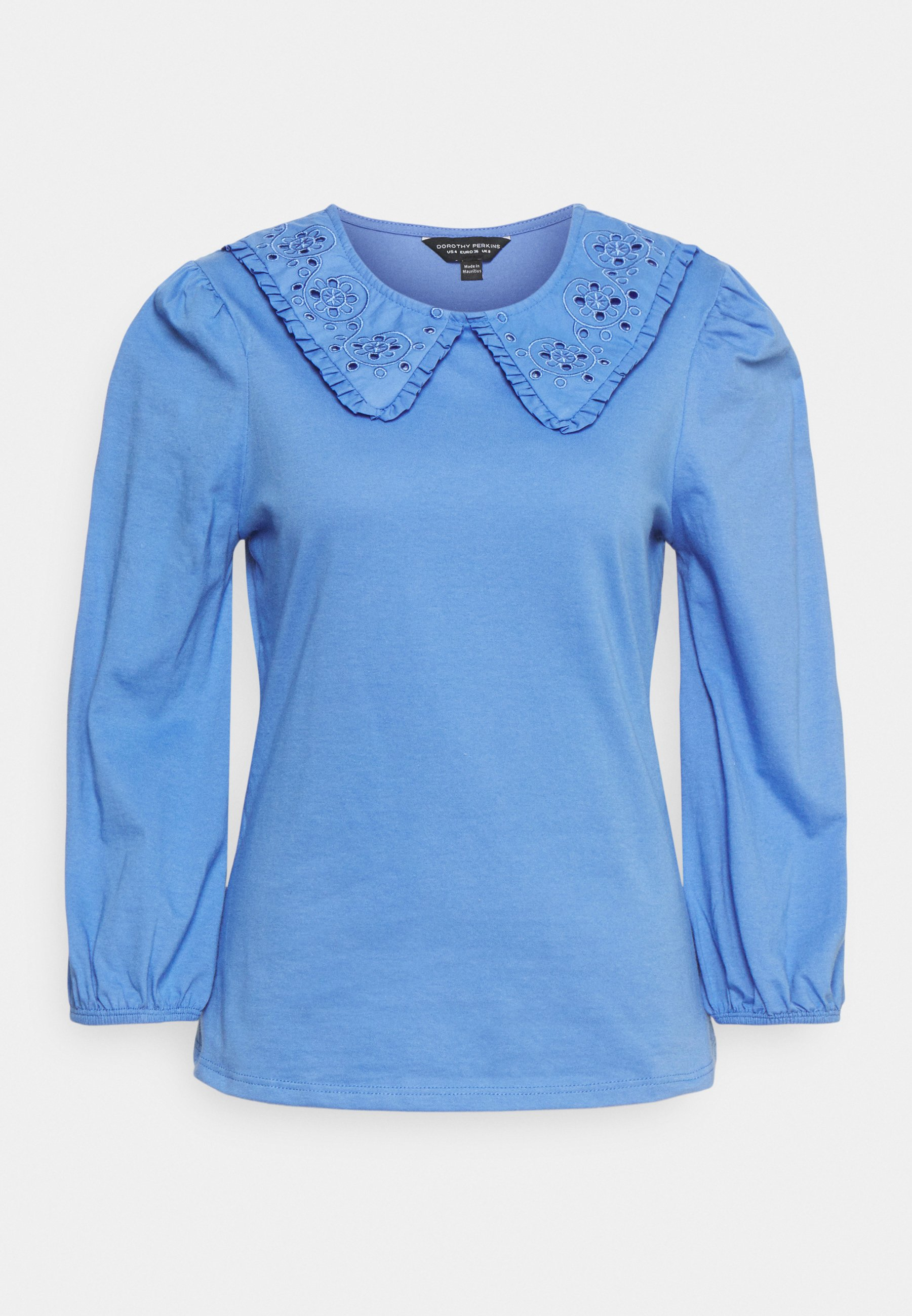 Women EMBROIDERED COLLAR  - Long sleeved top