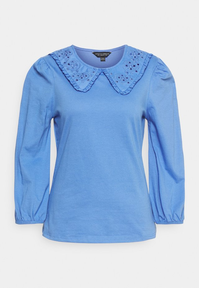 EMBROIDERED COLLAR  - T-shirt à manches longues - blue