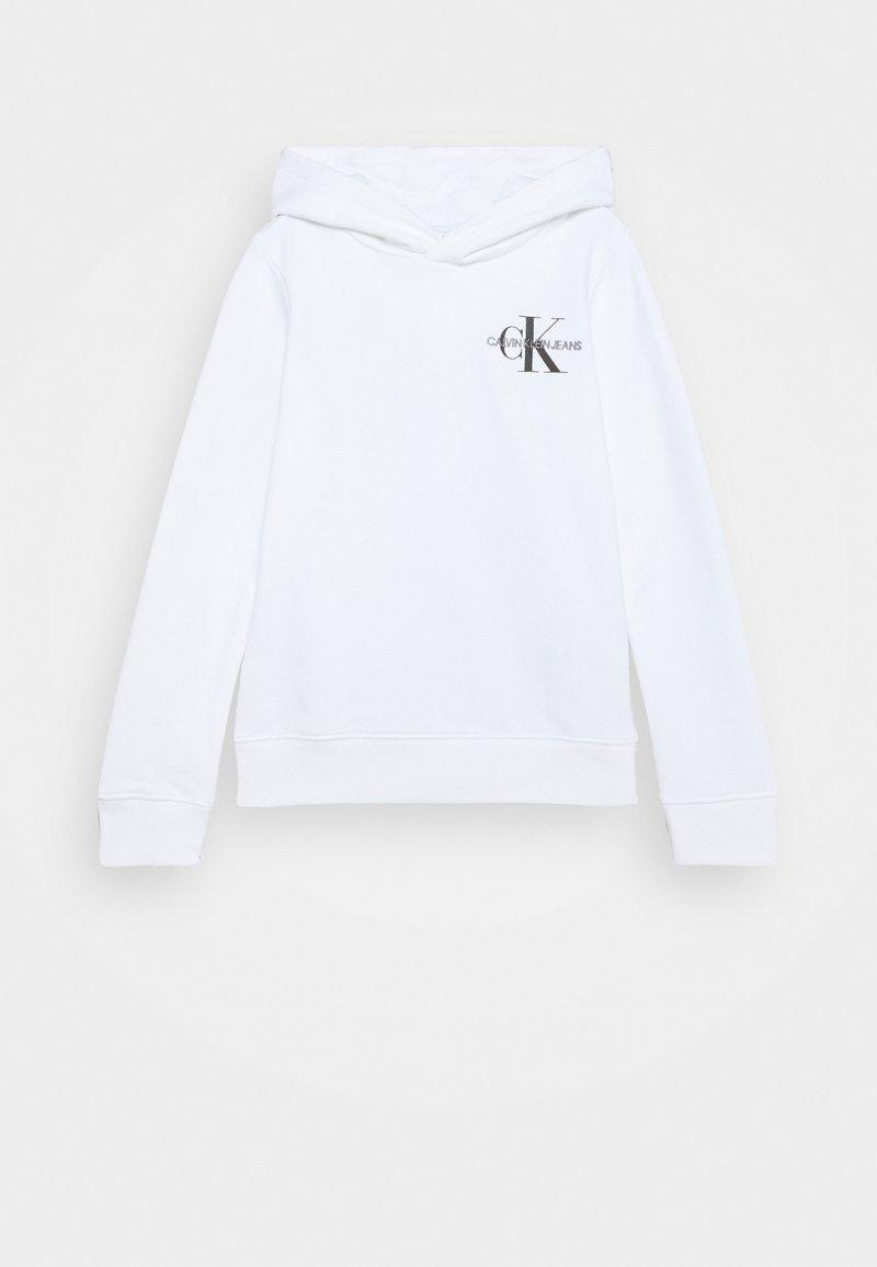 Calvin Klein Jeans - SMALL MONOGRAM HOODIE UNISEX - Jersey con capucha - white