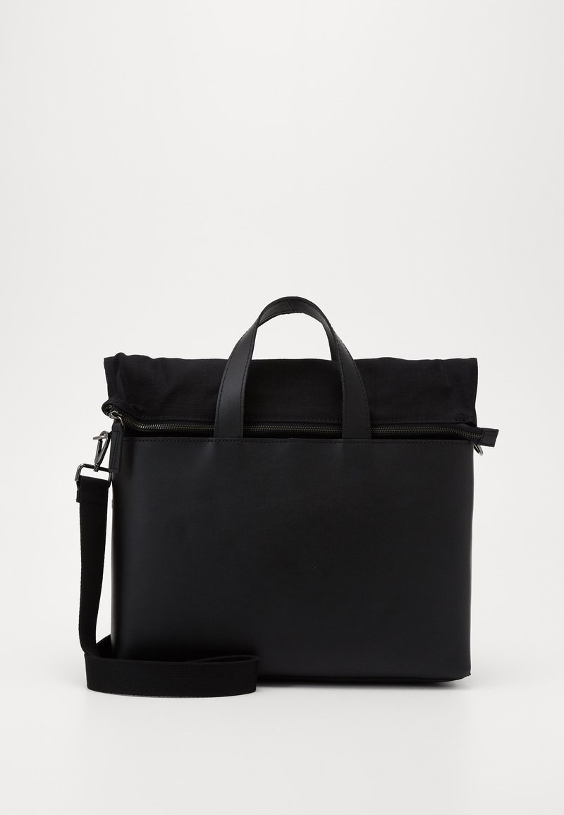 Zign - UNISEX LEATHER - Laptoptas - black