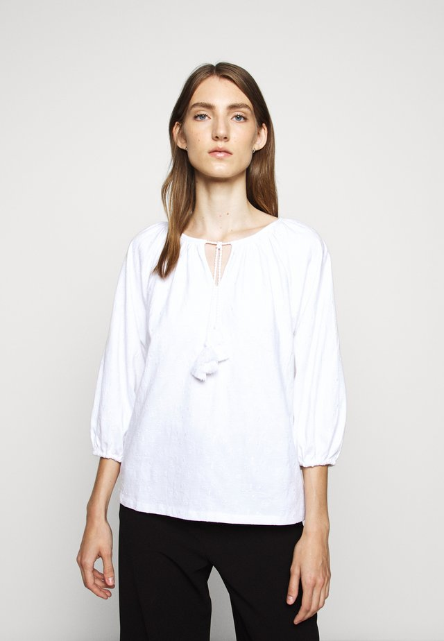 EMBROIDERED TASSEL TEE - Topper langermet - white