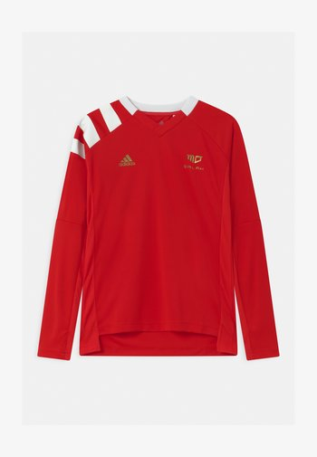 UNISEX - Long sleeved top - vivid red/white/gold