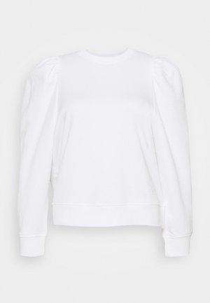 PUFFY SLEEVE LOGO - Bluser - white