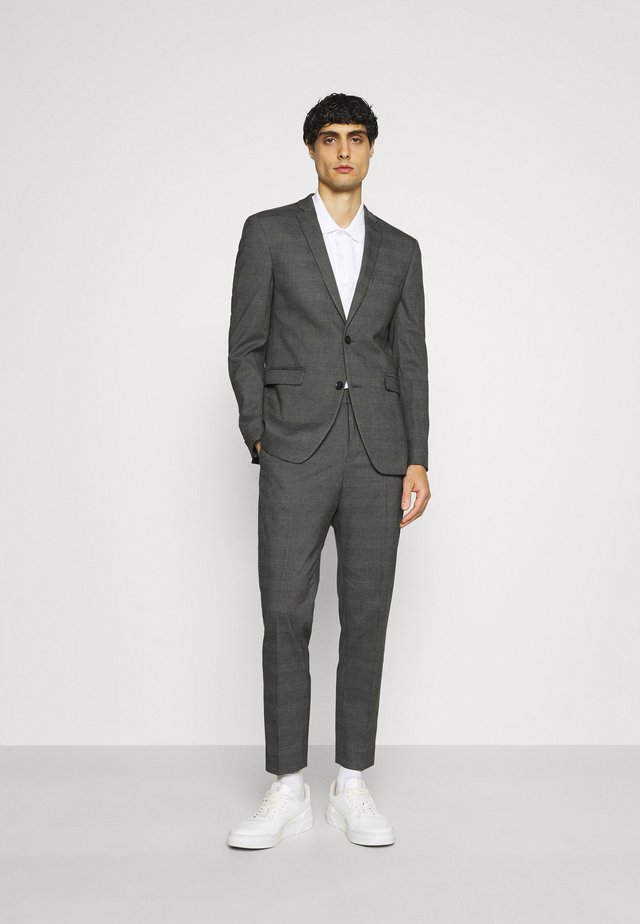 GLENCHECK - Oblek - dark grey