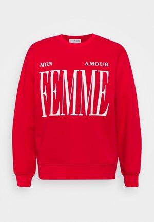SLFAMOUR PRINT - Sweatshirt - true red