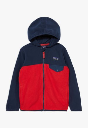 BABY MICRO SNAP UNISEX - Fleece jacket - fire/new navy