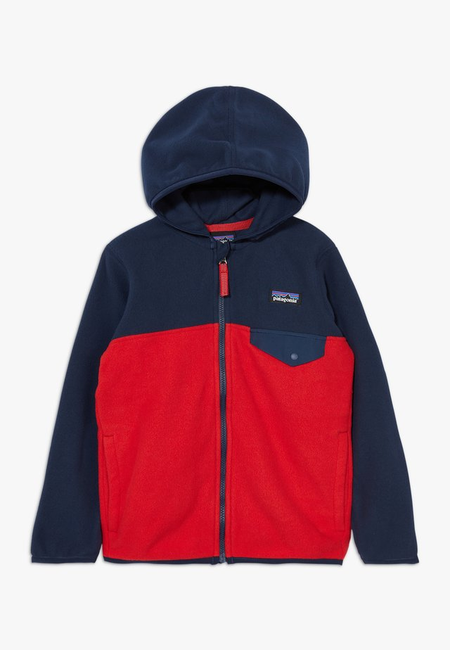 BABY MICRO SNAP UNISEX - Giacca in pile - fire/new navy