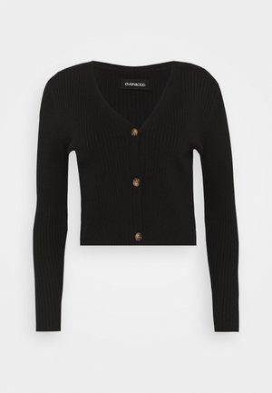 Cropped cardigan - Cardigan - black
