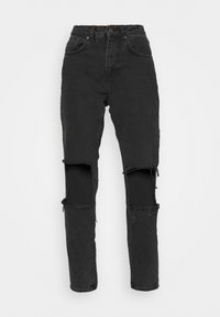 The Ragged Priest - CHARCOAL SQUARE CUT OUT KNEE JEAN - Džíny Relaxed Fit - charcoal - 5