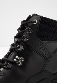 KARL LAGERFELD - QUEST CROSS LACE MID - Lace-up ankle boots - black - 2