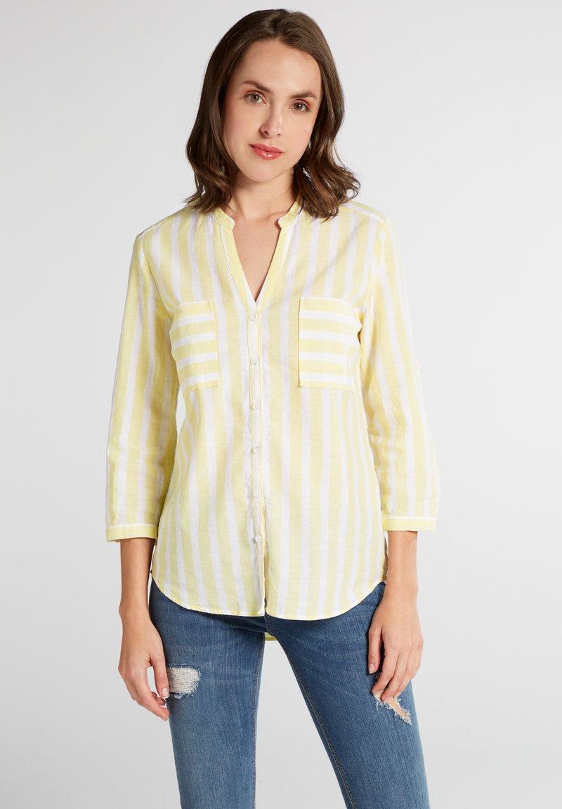 Eterna - MODERN CLASSIC - Blouse - yellow/white