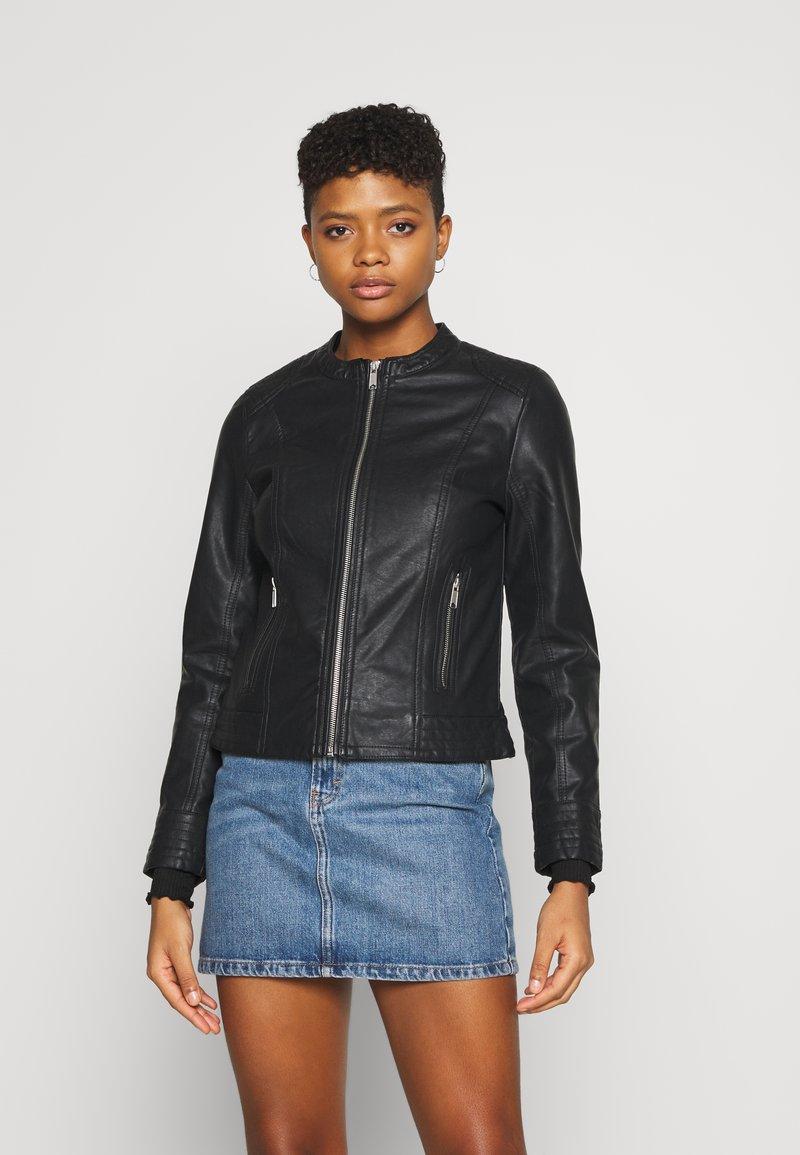 b.young - ACOM JACKET - Faux leather jacket - black