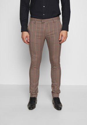 CAPE - Suit trousers - brown