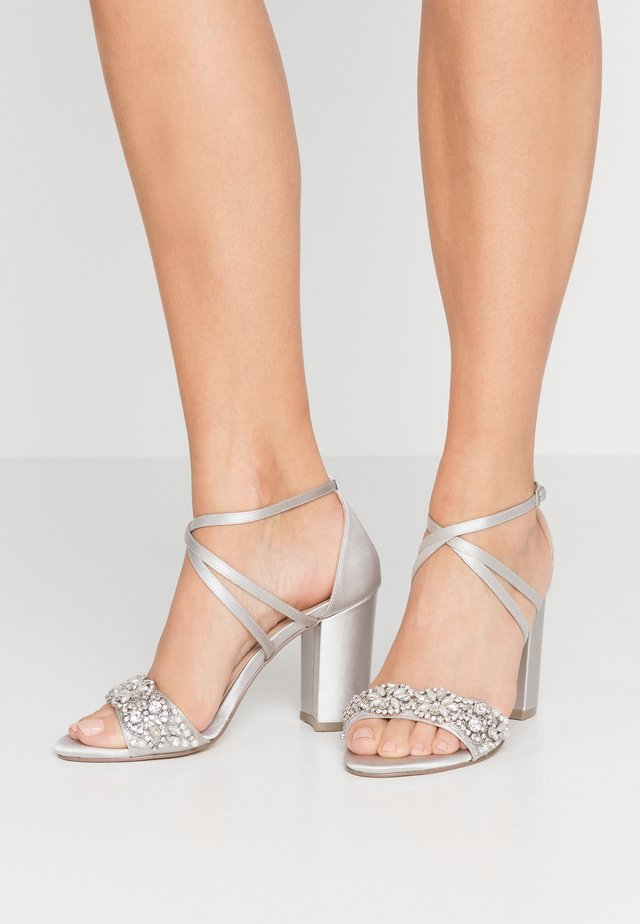 HERLISA - High heeled sandals - silver